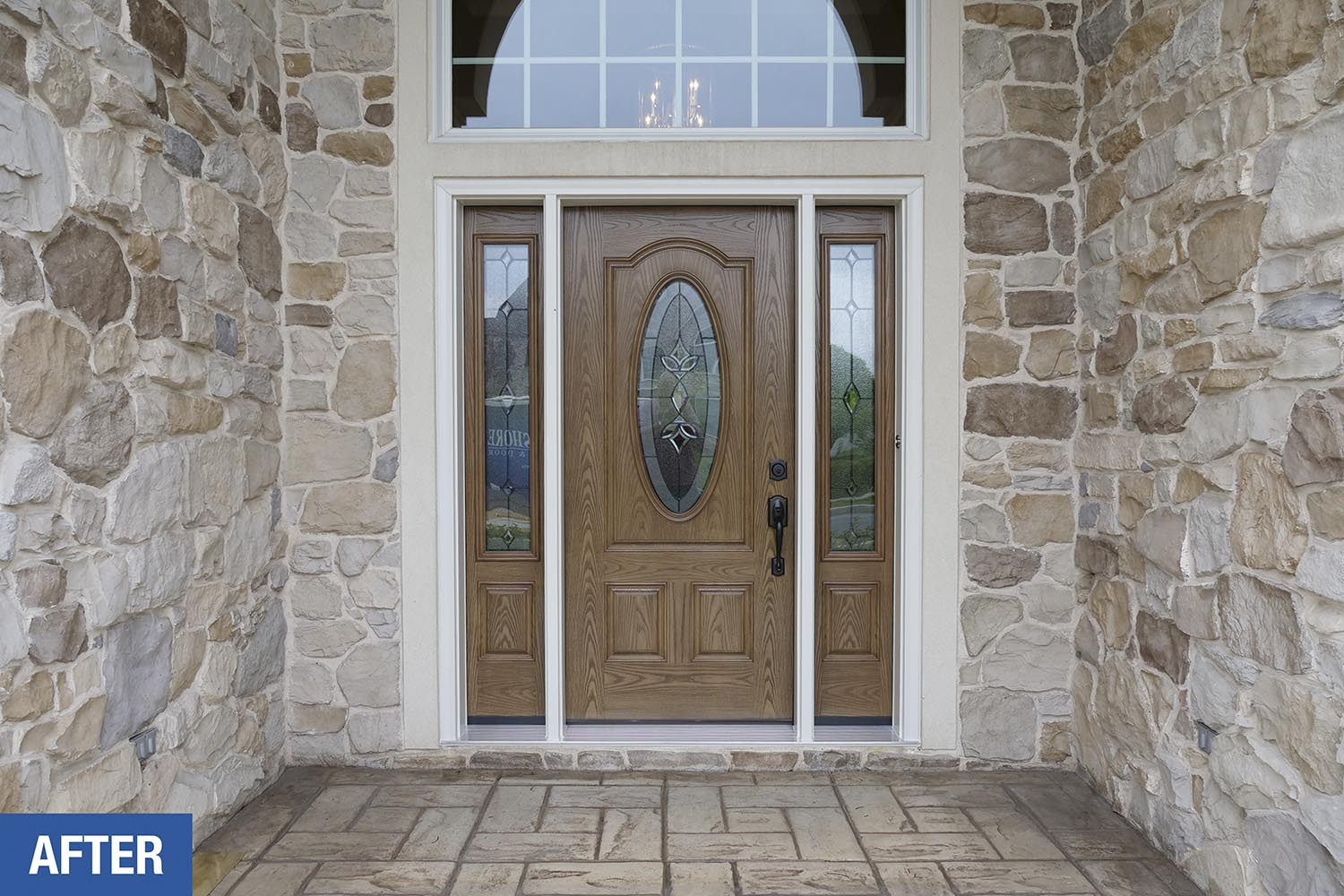 Their Old Door Had Some Significant Chipping And Needed Painted Every Year  Just To Stay Looking Presentable! This New Entry Door System Looks Great  And Will ...