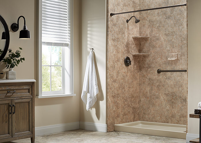 Tub to shower conversions remodels installations - Bathroom remodel tub to shower conversion ...