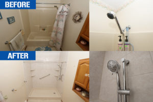 before and after bathtub to shower conversion